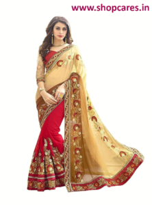 silk-saree with designer blouse