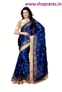 silk saree with design blouse